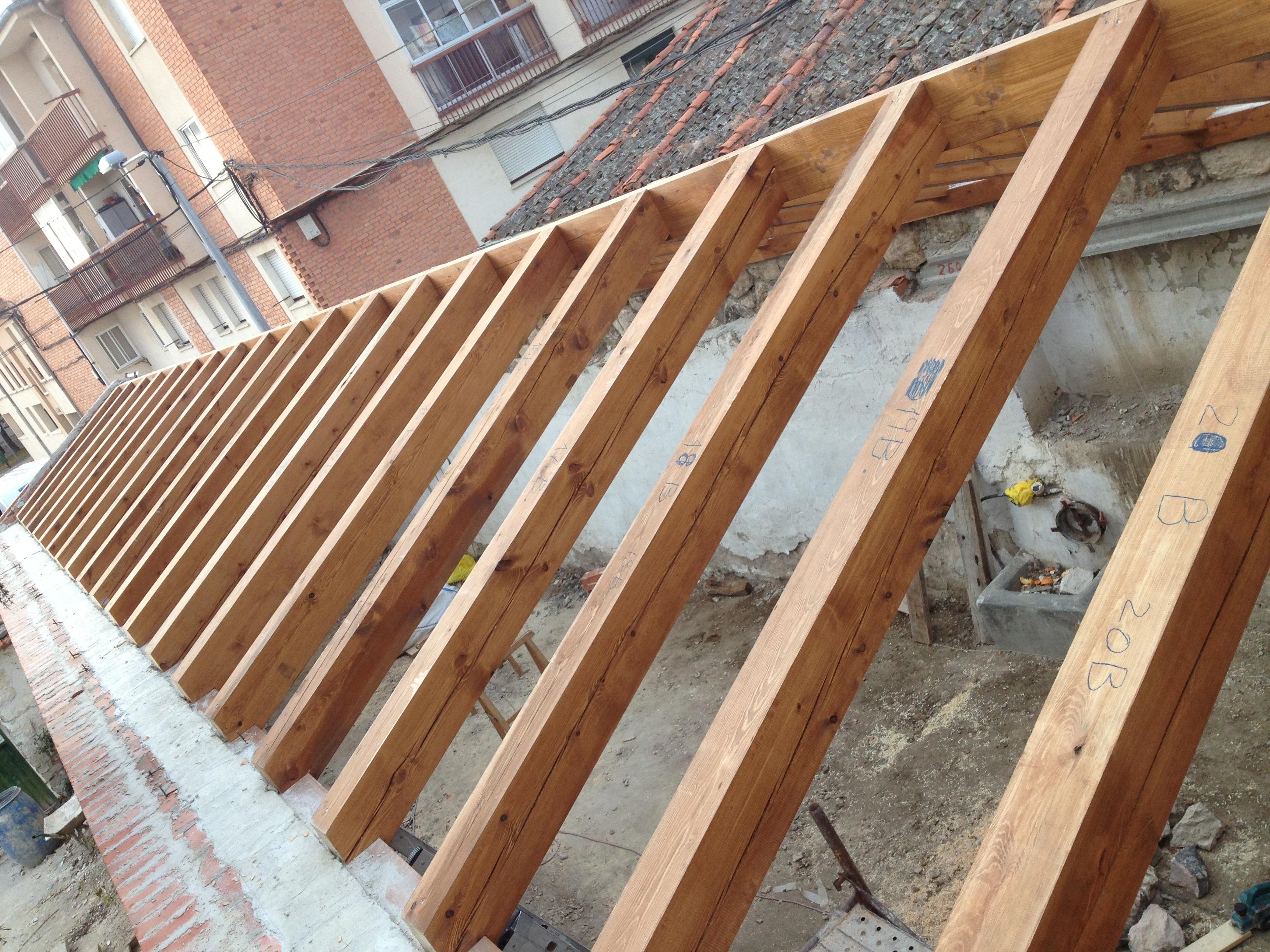 Cubiertas de madera carpinter a de prado for Tejados de madera carpinteria