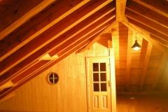 Falso techo de madera