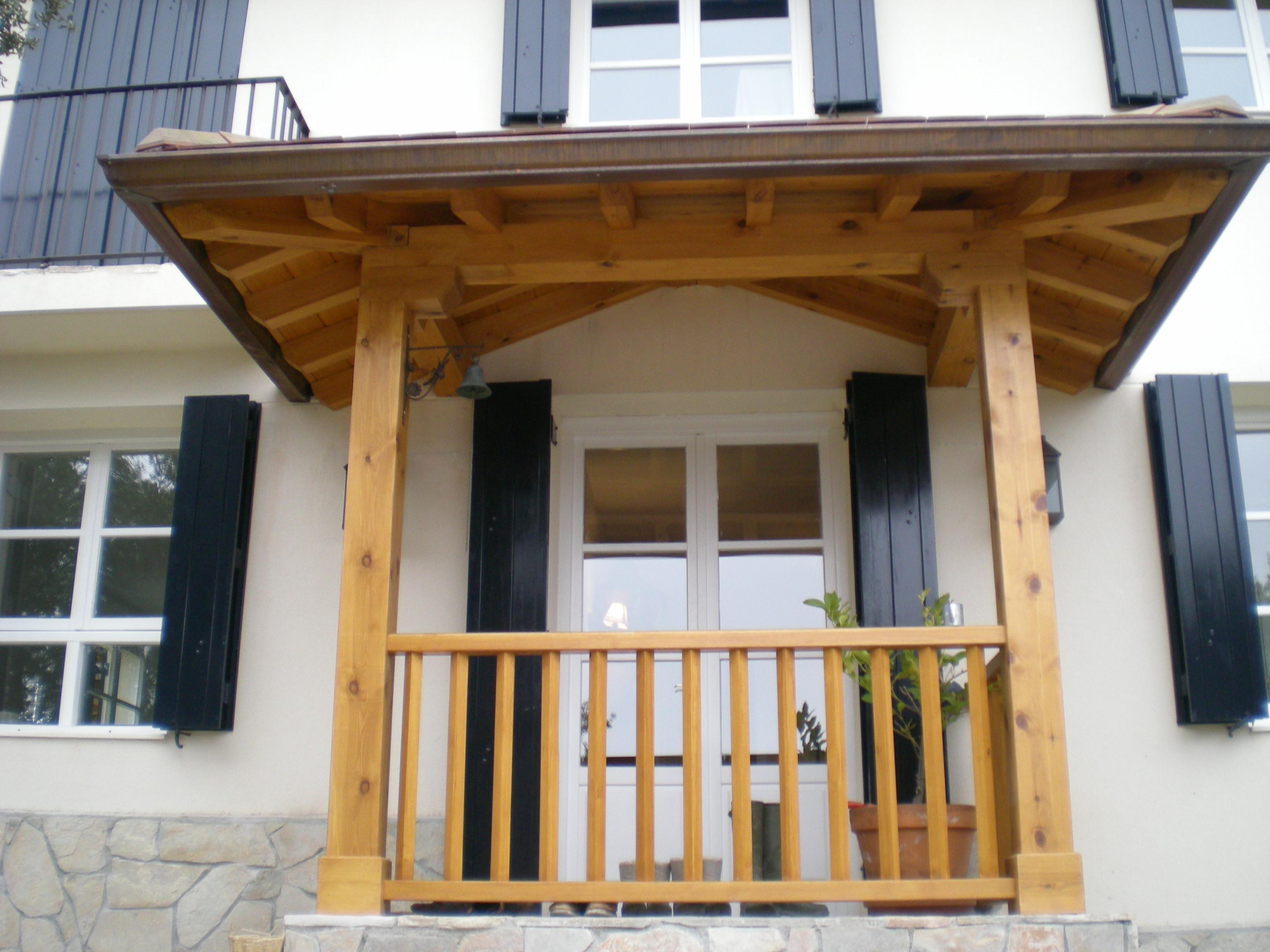 Marquesinas de madera para puertas de entrada puerta for Marquesinas para puertas