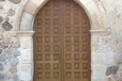 Puerta exterior en madera