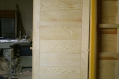 Puerta serie tablas horizontales